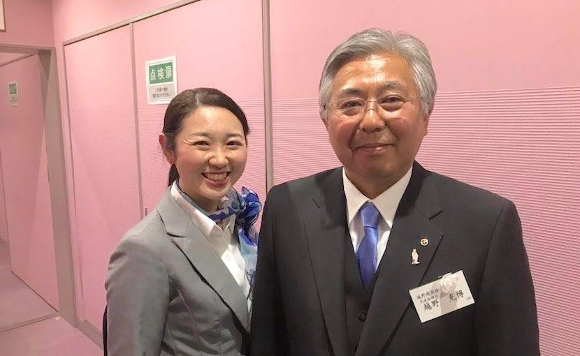 越野会長と中嶋みどり MA Station(エムエーステーション)